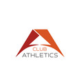 a letter icon for athletics club vector image vector image