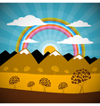 Abstract Nature Background with Mountains Rainbow vector image vector image