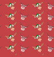background of wrapping paper with christmas charac vector image