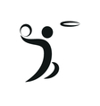 Basketball and ball Icon monochrome vector image vector image