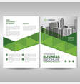 business brochure cover layout template with vector image vector image