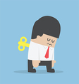 Businessman with wind-up key in his back vector image vector image