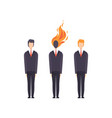 businessmen successful and exhausted overworked vector image vector image