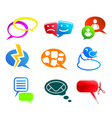chat and communication icons vector image vector image