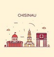 chisinau skyline moldova linear style city vector image vector image