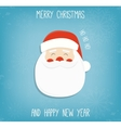 Christmas background with Santa Claus Merry vector image vector image