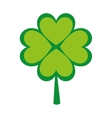 clover leaf luck saint patrick icon vector image vector image