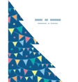 colorful doodle bunting flags Christmas tree vector image vector image