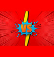 comic competitive explosive concept vector image vector image
