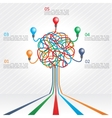 Concept of colorful tree for business design vector image vector image