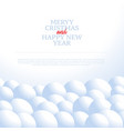 cristmas background with snowballs and snow vector image vector image