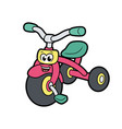 cute little bicycle vector image