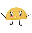 cute taco on white background vector image