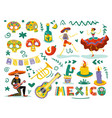 day dead mexico set vector image vector image