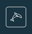 dolphin outline symbol premium quality isolated vector image vector image