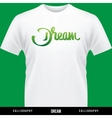 DREAM hand lettering - handmade calligraphy vector image vector image