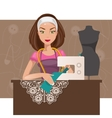 Dressmaker woman vector image