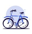 eco transport concept blue bike riding bike vector image vector image