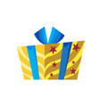 festive gift in box decorated with decorative vector image vector image