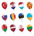 flag balloons vector image vector image