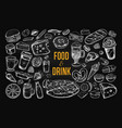 food and drink big set 2 vector image vector image