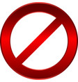 forbidden sign vector image vector image