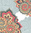 frame pattern of the indian floral ornament vector image vector image