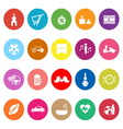 Friday and weekend flat icons on white background vector image vector image