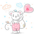 funny cute teddy bear - cartoon vector image