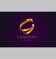 g gold golden alphabet letter logo icon design vector image