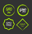 gmo free sign vector image vector image