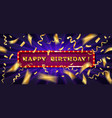 gold lettering happy birthday vector image vector image