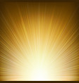 golden sunburst background vector image