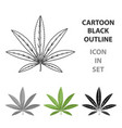 Green leaf of hemphippy single icon in cartoon