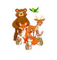 group of animals character vector image