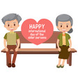 happy international day older persons vector image vector image