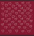 heart line pattern hand drawn design on white vector image
