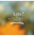 Hipster summer landscape blurred design vector image