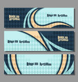 horizontal futuristic banners vector image vector image