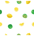 Lemon and lime lemonade white seamless pattern vector image vector image