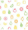 line fruits icons pattern or background vector image vector image