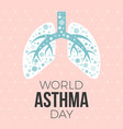 lung and world asthma day vector image