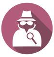man in suit secret service agent icon a long vector image vector image