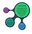 Metaball round diagram infographics vector image vector image