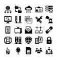 network and communication icons 11 vector image vector image