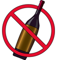 No Drinking vector image