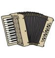 old beige accordion