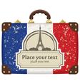 paris suitcase vector image vector image