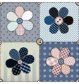 Patchwork with flowers vector image