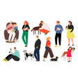 people pet owners vector image vector image